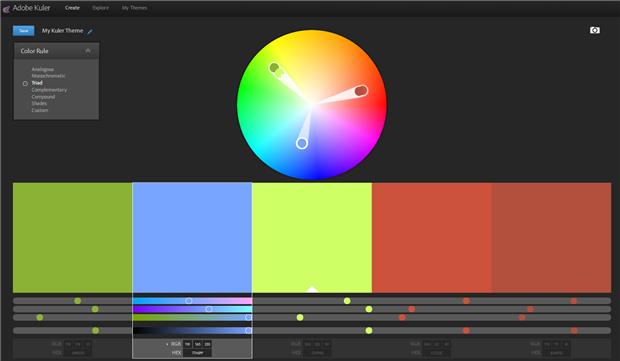 「Adobe Kuler」の画面