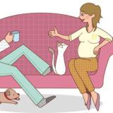 妊娠中のセックスのしかた、正しい体位♡