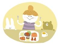 食べる妊婦