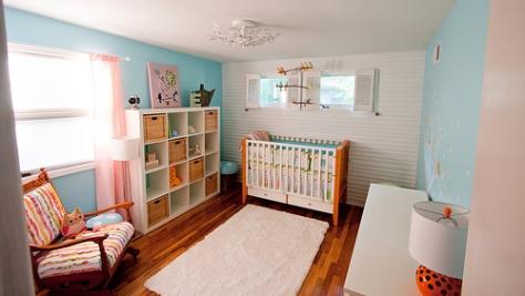 赤ちゃんを迎える準備万端の部屋