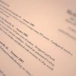 英文履歴書の書き方