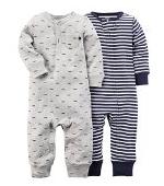 Carter's (カーターズ) :: ロンパース カバーオール 長袖 2枚組 男の子 綿100%