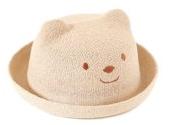 RI クマさん 耳付き カラフル ベビー ハット 赤ちゃん 子供 帽子