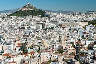 アテナイの街並み、俯瞰