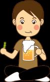 ビール飲むパパ