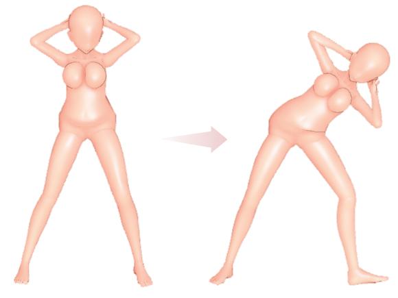 脇腹のストレッチ体操