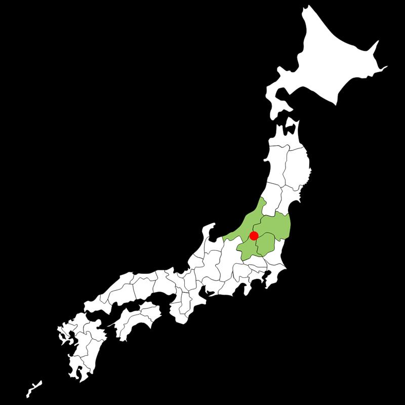 尾瀬の位置(日本地図)