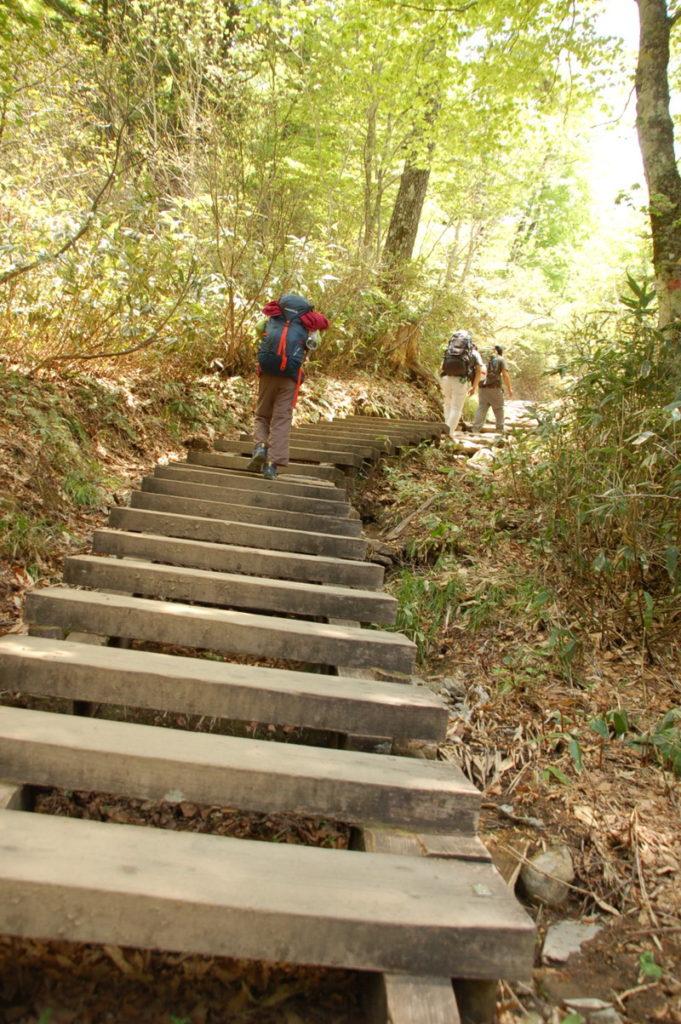 鳩待峠への階段