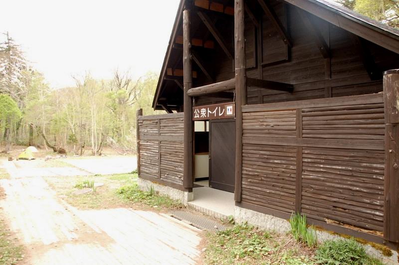 尾瀬テント場のトイレ