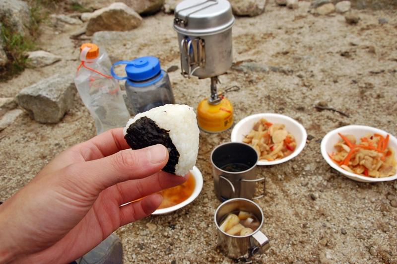 金峰山で昼食