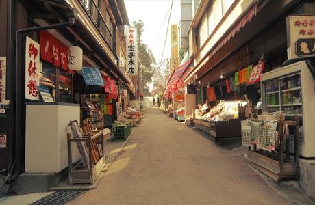 武蔵御嶽神社の門前町商店街