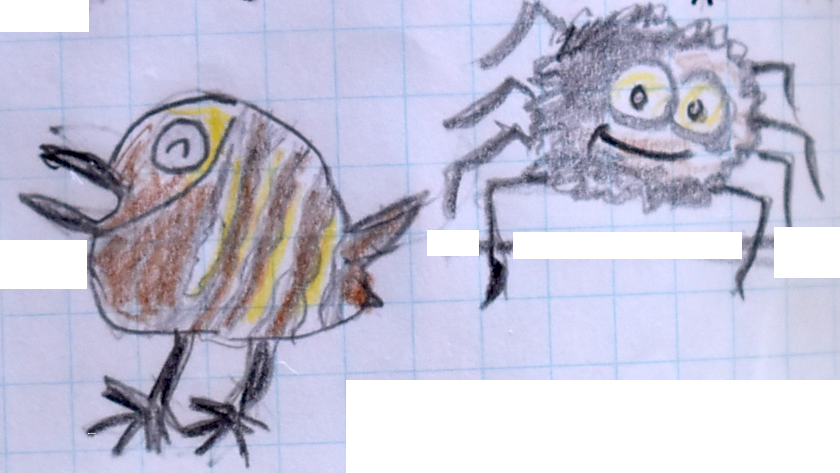 不思議なクモとイワヒバリ